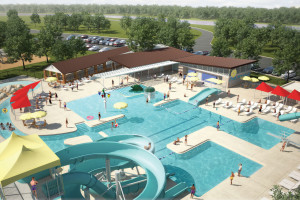 Chautauqua Aquatic Center, Beloit, Kansas, a municipal waterpark