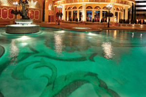 Casino resort pools